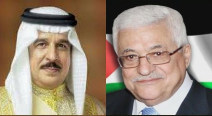 عباس والعاهل البحريني