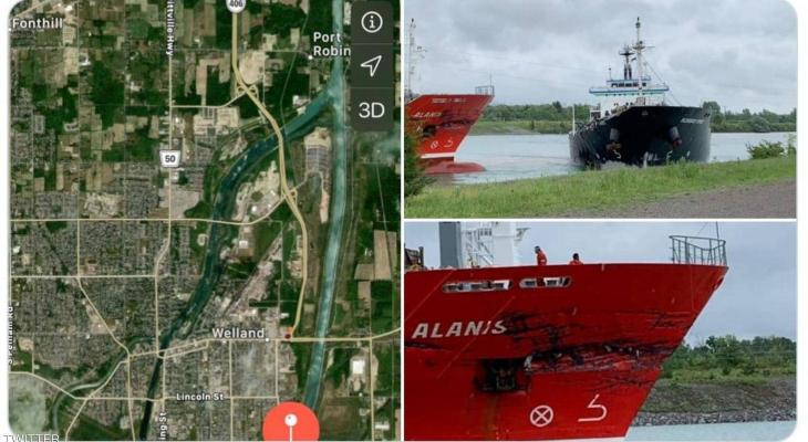"""بالفيديو: لحظة تصادم """"جنوني"""" بين سفينتين عملاقتين"""