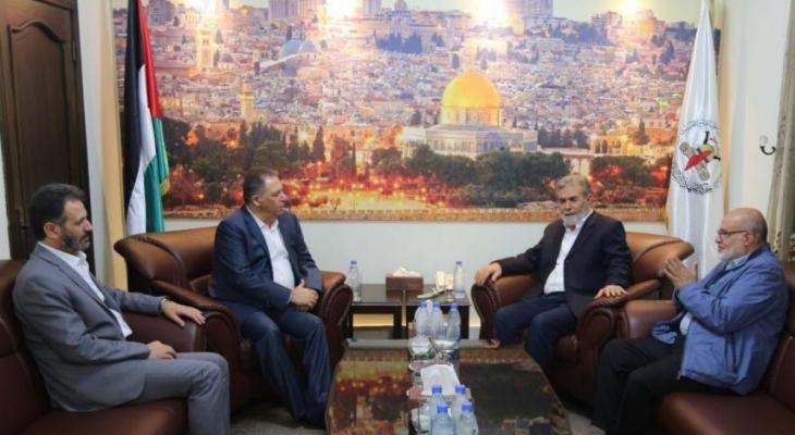 لقاء بين النخالة وسفير فلسطين في لبنان