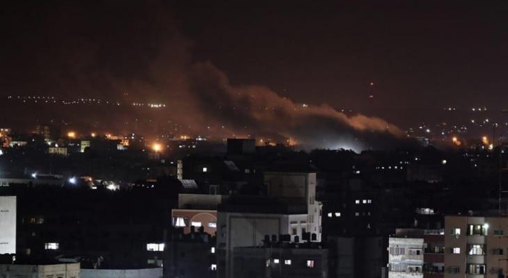 طائرات الاحتلال تستهدف موقعًا عسكريًا شرق مدينة غزة