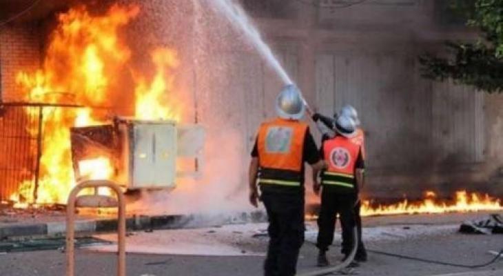 حريق منازل