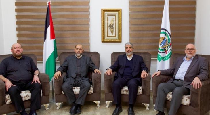 شاهد: أول صور لمشعل وأبو مرزوق بعد انتخابهما لرئاسة حماس في الخارج