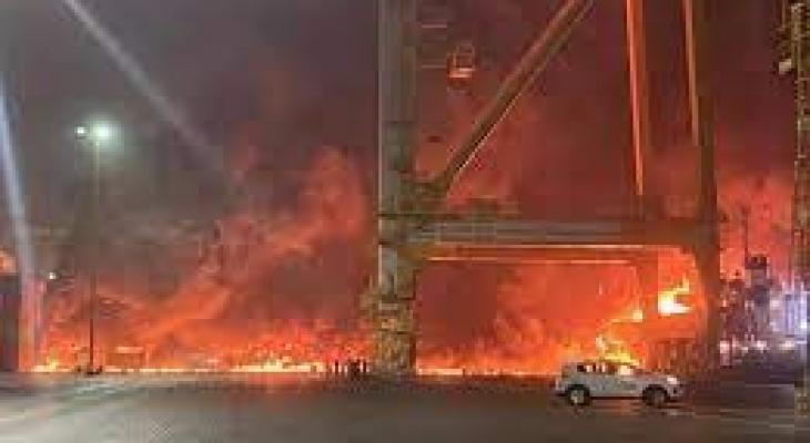 انفجار ميناء جبل علي