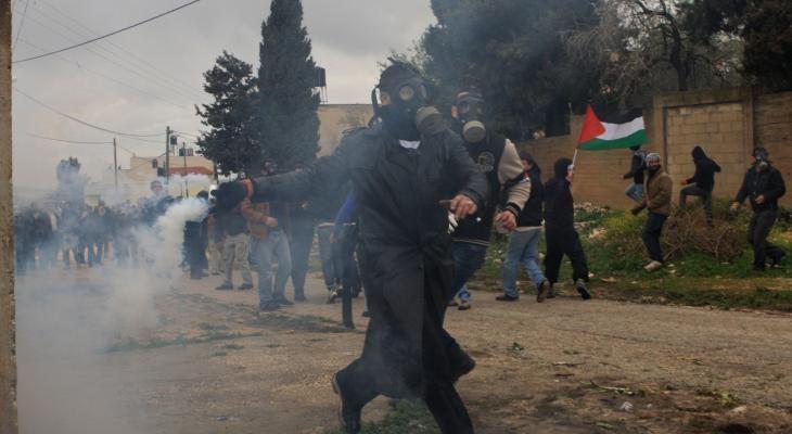 إصابات بالاختناق خلال قمع الاحتلال مسيرة كفر قدوم الأسبوعية