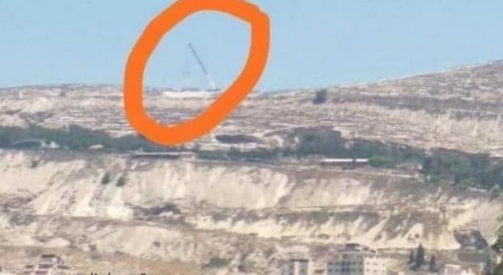 برج تقوية إرسال في سما نابلس