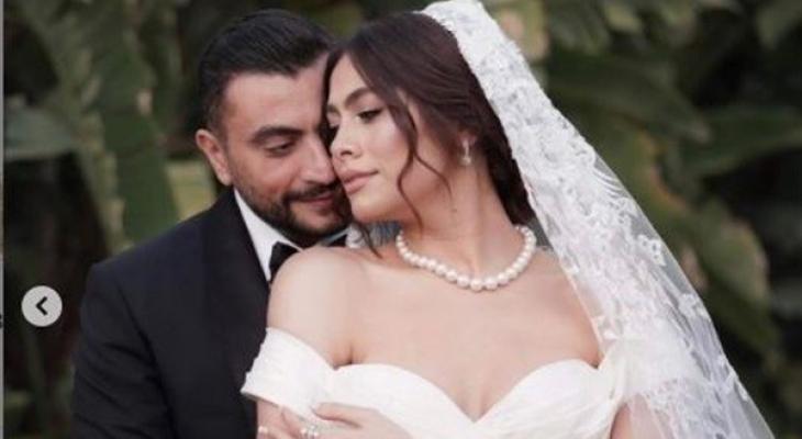 """أول تعليق من هاجر أحمد بعد حفل زفافها: اكتفيت بـ """"زوجي""""يا الله رزق لي"""