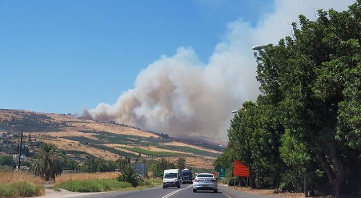 حريق في طبريا