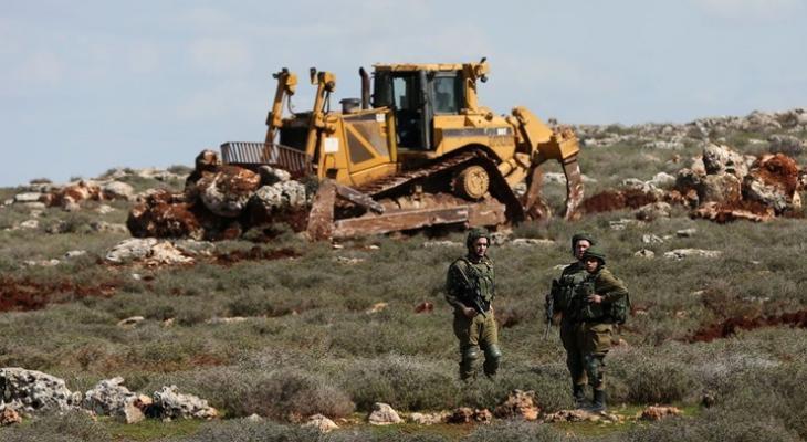 نابلس: الاحتلال يجرف طريقًا مؤديًا لجبل صبيح بعد ساعات من فعاليات الإرباك
