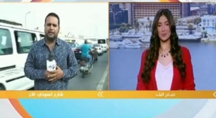 بالفيديو   مذيع قناة مصرية يتعرض لموقف صعب على الهواء