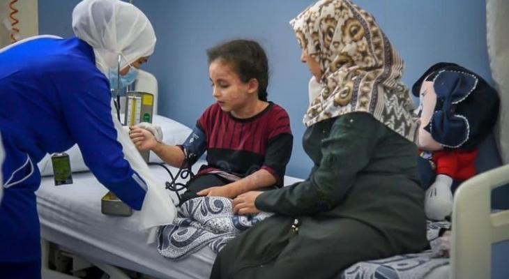 استقبال طفلة من غزة