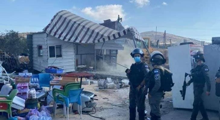 الاحتلال يهدم منشأة تجارية في بلدة يعبد غرب جنين