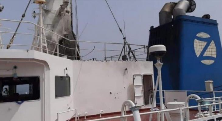 السفينة المستهدفة بخليج عمان.jpg