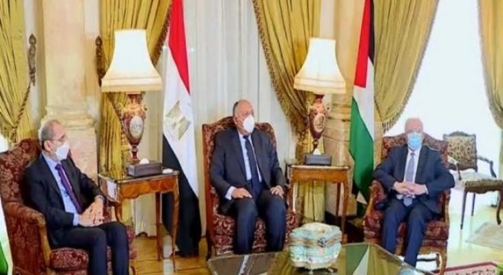 اجتماع ثلاثي لوزراء الخارجية الأردنية والمصرية والفلسطينية
