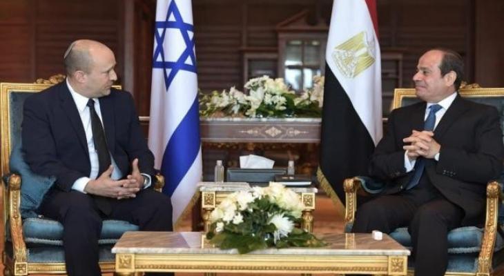 إذاعة جيش الاحتلال تكشف تفاصيل جديدة حول لقاء الرئيس السيسي مع بينيت