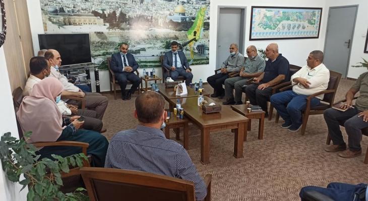 وكيل وزارة العمل بغزة يلتقي وكيل وزارة الزراعة
