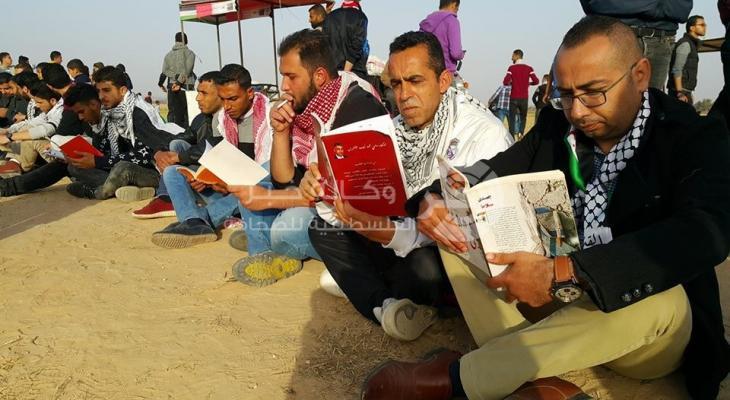 """بالصور: سلسلة قراء في مخيم العودة على حدود """"رفح"""" الشرقية"""