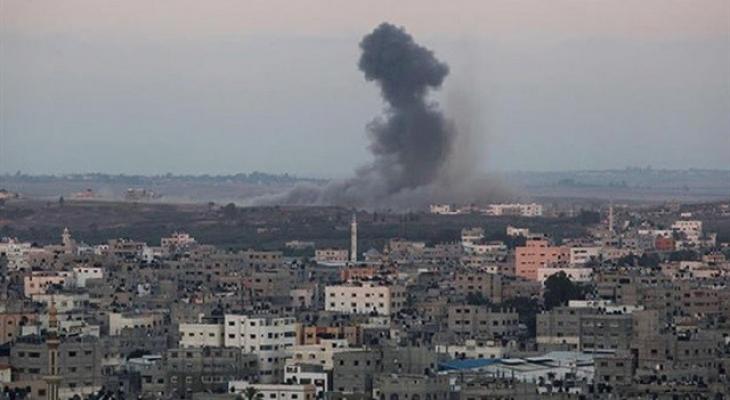 قصف غزة