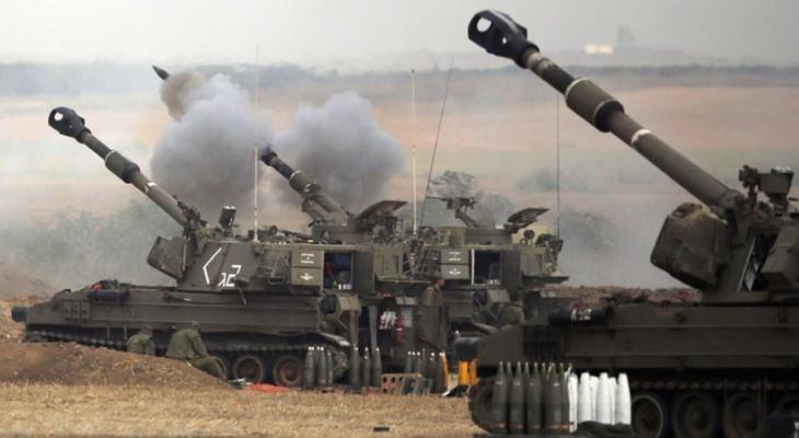 مدفعية الاحتلال تستهدف نقطة رصد للمقاومة شرقي جباليا.jpg