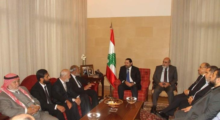 """وفد كتلة """"حماس """"يلتقي مع الحريري في بيروت"""