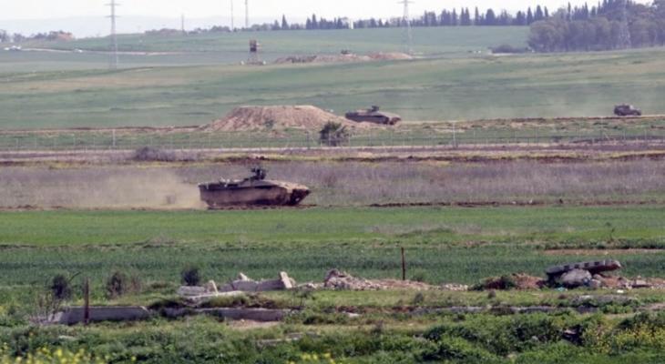 إطلاق نار كثيف صوب نقطة رصد للمقاومة وسط قطاع غزة.jpg