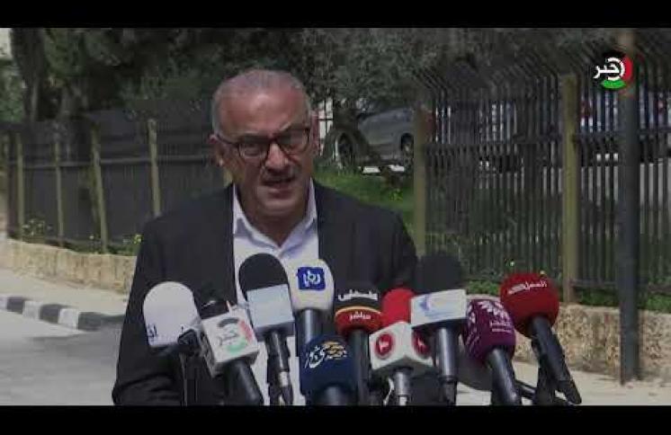 مؤتمر وزارة الداخلية برام الله لإعلان مستجدات فيروس كورونا
