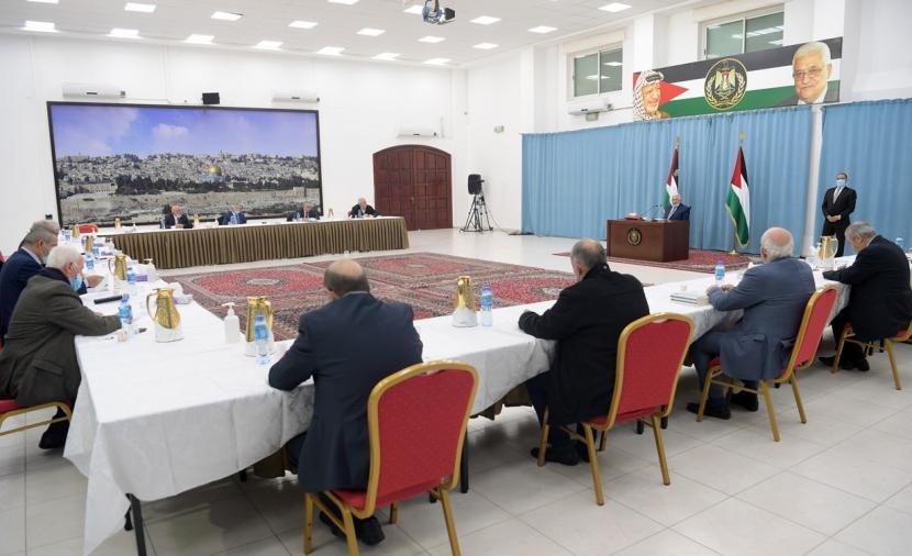 بدء اجتماع اللجنة المركزية لحركة فتح لبحث مخرجات جلسات الحوار الوطني
