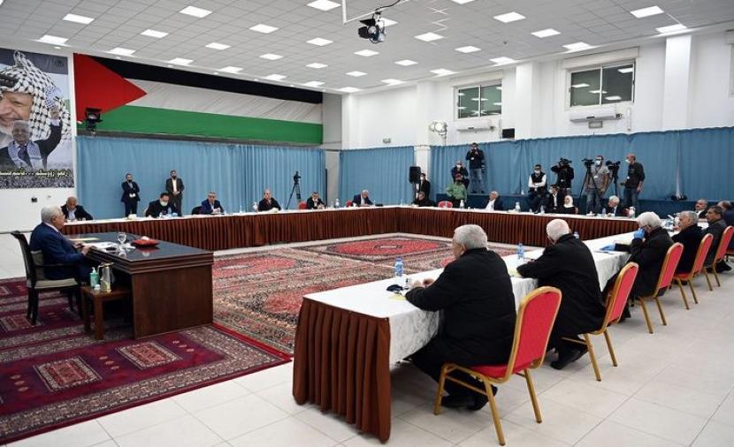 بدء اجتماع اللجنة المركزية لحركة فتح برئاسة الرئيس عباس برام الله