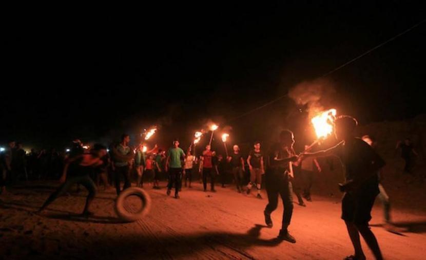 إصابات بالاختناق خلال قمع الاحتلال لفعاليات الإرباك الليلي شمال قطاع غزة
