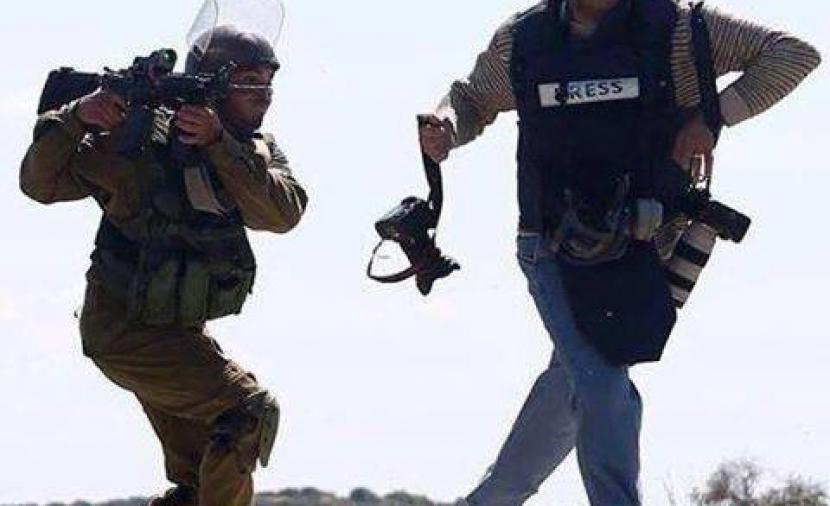 إصابة صحفي برصاص الاحتلال في نابلس