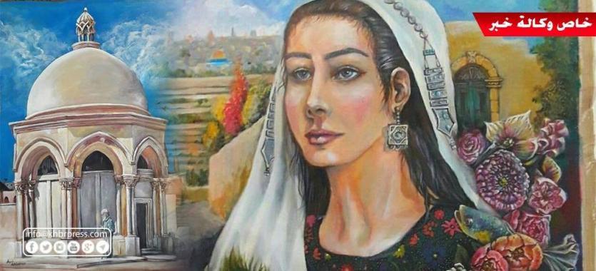 شاهد بالصور: فتاة فلسطينية تقهر المرض بلوحات فنية مفعمة بالأمل والإرادة