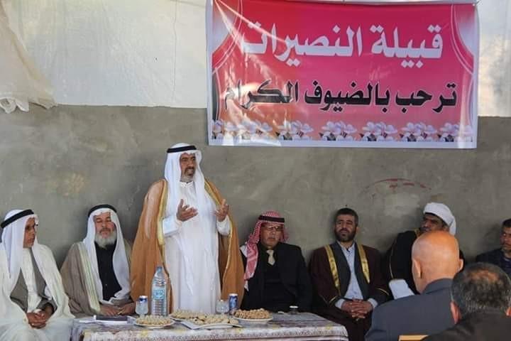"""بالصور: النائب """"المصدر"""" وقبيلة النصيرات يستقبلون مجلس قبائل وعشائر فلسطين"""
