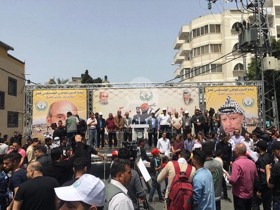 بالفيديو والصور: مسيرة تجوب شوارع غزّة إحياءًا ليوم العمال العالمي
