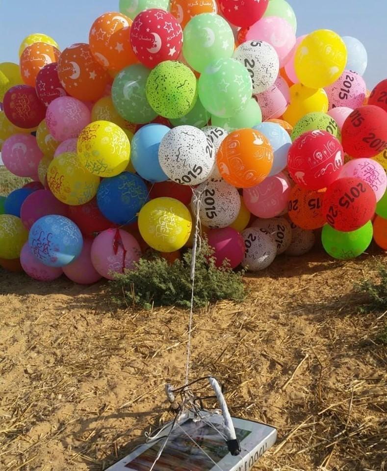 """الاحتلال يزعم اندلاع عدة حرائق في """"غلاف غزة"""" بفعل البالونات الحارقة"""
