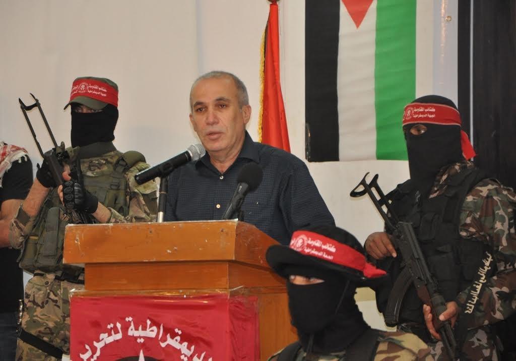 بالصور: الديمقراطية تنظم مهرجانًا لشهدائها وسط مدينة غزّة