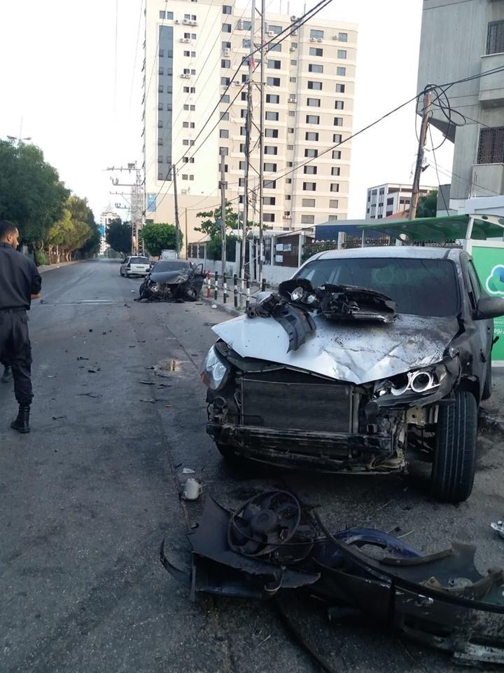 """""""10"""" إصابات جراء حادث سير في غزّة"""