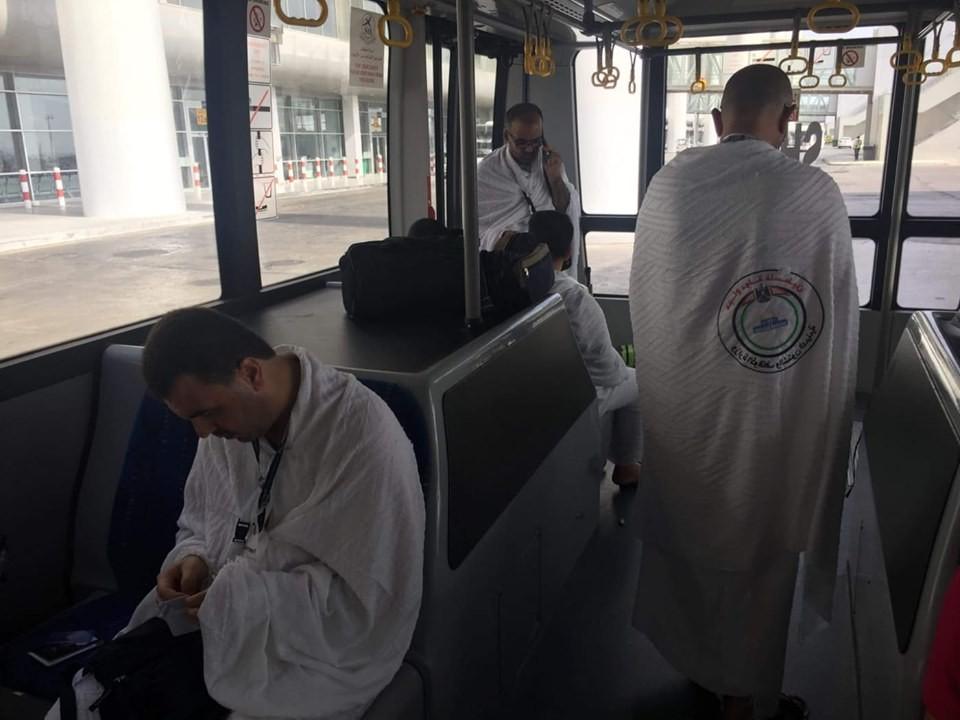 وصول الفوج الأول من حجاج غزّة إلى مطار الملك عبد العزيز بالسعودية