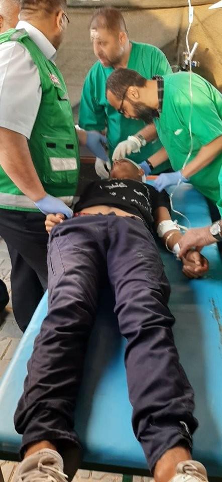 إصابات جراء قمع الاحتلال المسيرات السلمية شرق غزّة