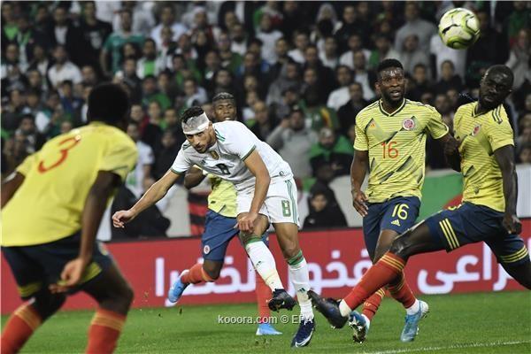 المنتخب الجزائري يسحق الكولومبي بثلاثية نظيفة