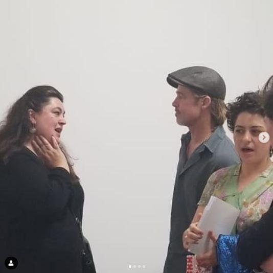"""شاهدوا: هل يواعد النجم الأمريكي """"براد بيت"""" هذه الممثلة العراقية؟"""