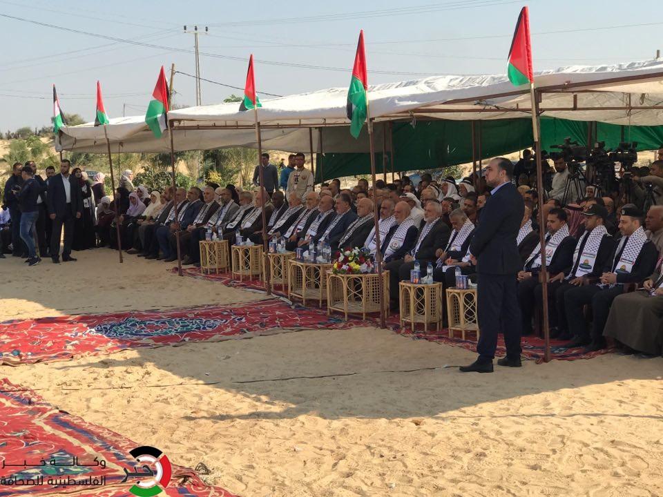 بالفيديو والصور: مراسم وضع حجر الأساس لبناء مستشفى رفح جنوب القطاع