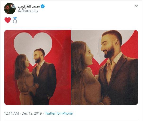 """صور """"جديدة""""  للنجم """"محمد الشرنوبى"""" من حفل خطوبته"""