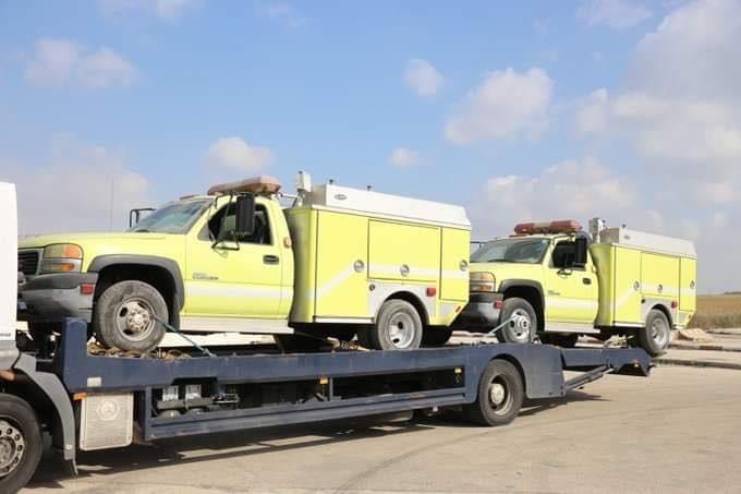 الاحتلال يسمح بدخول سيارات إطفاء إلى غزة للمرة الأولى منذ 2007
