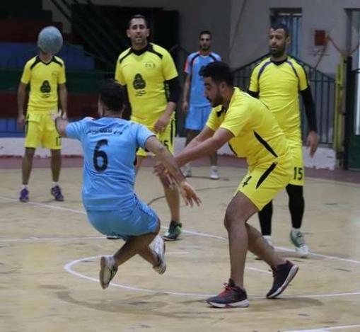 خدمات النصيرات يعبر خدمات الشاطىء في أولى مباريات كرة اليد