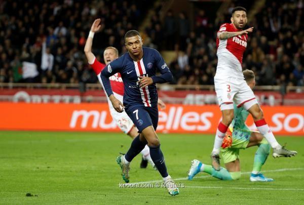 باريس سانجرمان يسحق موناكو برباعية