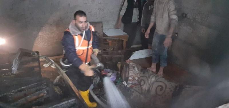اندلاع حريق في منزل شرق مدينة غزة