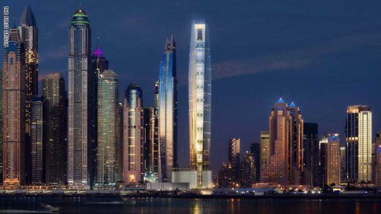 """بالفيديو والصور: دبي تبني أطول """"فندق"""" في العالم مجدداً"""