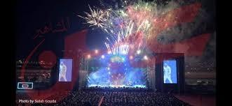 """بالصور: """"تامر حسني"""" يواصل ضرب الأرقام القياسية فى الحضور الجماهيري خلال حفلاته"""