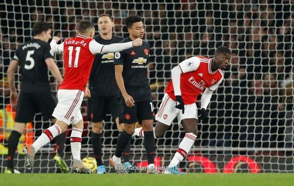 الأرسنال يتخطى مانشستر يونايتد بهدفين دون رد