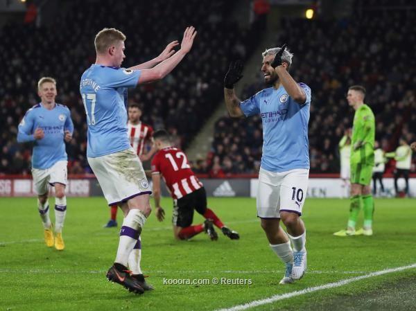 اغويرو ينقذ ماء وجه مانشستر سيتي امام شيفيلد