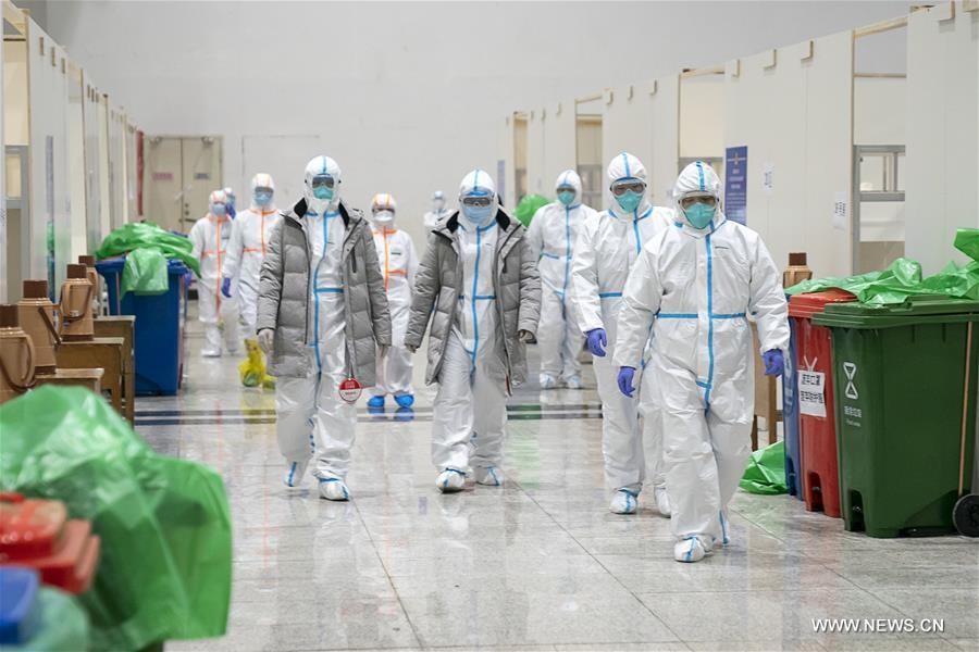شاهد: بدء استخدام مستشفى مؤقت للمصابين بفيروس كورونا الجديد في مدينة ووهان